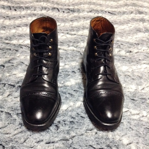 dc9778ad724d6 Cole Haan Other - Vintage Cole Haan black cap toe lace up ankle boot